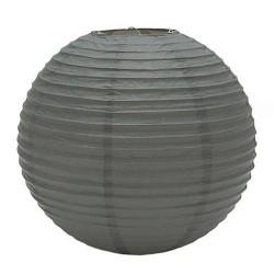 Lámpara de papel color gris
