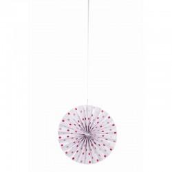 Abanicos decorativos tonos rosas (3 uds)