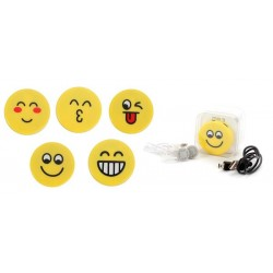 MP3 EMOTICONO EN CAJA DE REGALO (CABLE+CASCOS)