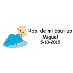 LOTE 33 ETIQUETAS PARA DETALLE BAUTIZO NINO ADHESI